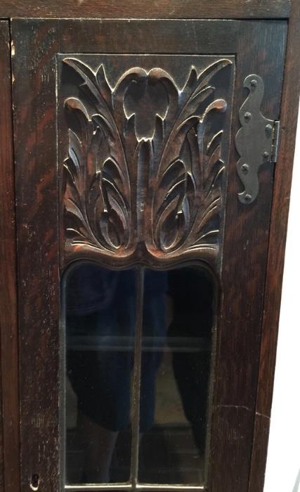Antique Glass Front Arts & Crafts Book Case