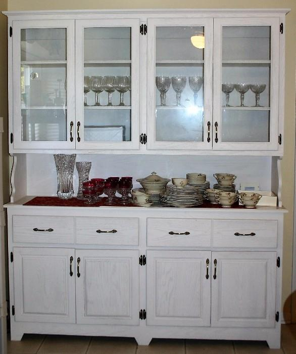 :  Large Country White Wall Cabinet
