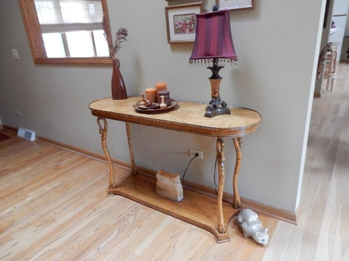 Stunning foyer table, note the legs