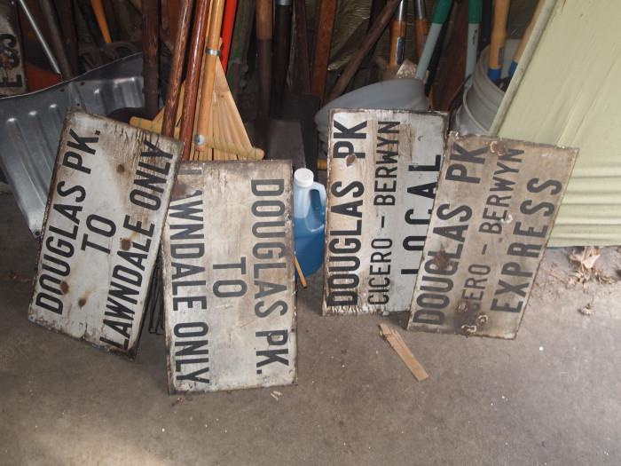 These are 2-sided signs!