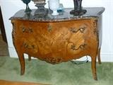 Antique French Louis XVI style marble-top 2-drawer cabinet...gorgeous!!