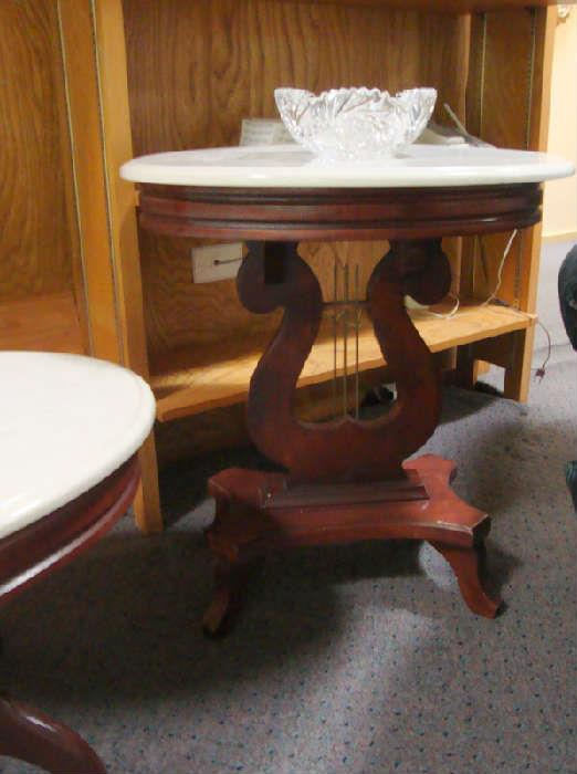 Lyre Based Marble top Table
