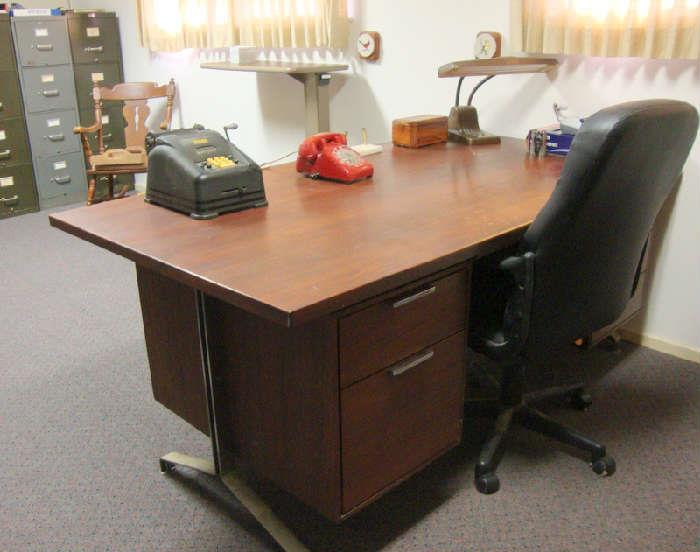 Desk belonging to the late Mr. Rapp