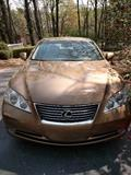 2007 Lexus ES 350 4-door Sedan, in Amber Pearl exterior, w/Cashmere interior;                                         VIN # JTHBJ46G372075399, 78,420 miles.                     Thoughtfully equipped with: 3.5 L engine, power locks, sunroof, Cassette/CD/AM/FM stereo, auxiliary audio input, rear defroster, ABS brakes, heated front seats, memory seats, A/C front seats, navigation system, premium package, automatic transmission, power windows, A/C, cruise control, full leather seating, memory seats, power mirrors, alloy wheels, traction control, satellite radio ready, side airbags, overhead airbags, rear sunshade, rear view camera, smart key.