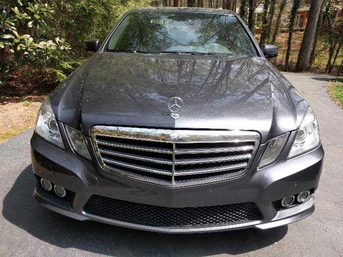 Like new 2010 M-B E320 Sport Sedan, in Indium Gray Metallic, w/Ash Leather interior;                                     3.5 L engine, only 28,870 pampered miles.                   VIN # WDDHF5GB0AA161780                                                                                             Beautifully equipped with: power locks, sunroof, CD/AM/FM stereo, w/Harmon Kardon sound, auxiliary audio input, rear defroster, ABS brakes, heated front seats, navigation system, premium package, automatic transmission, power windows, A/C, cruise control, full leather seating, memory seats, power mirrors, alloy wheels, traction control, satellite radio ready, side airbags, overhead airbags, rear sunshade, rear view camera, Sirius XM trial available, smart key.