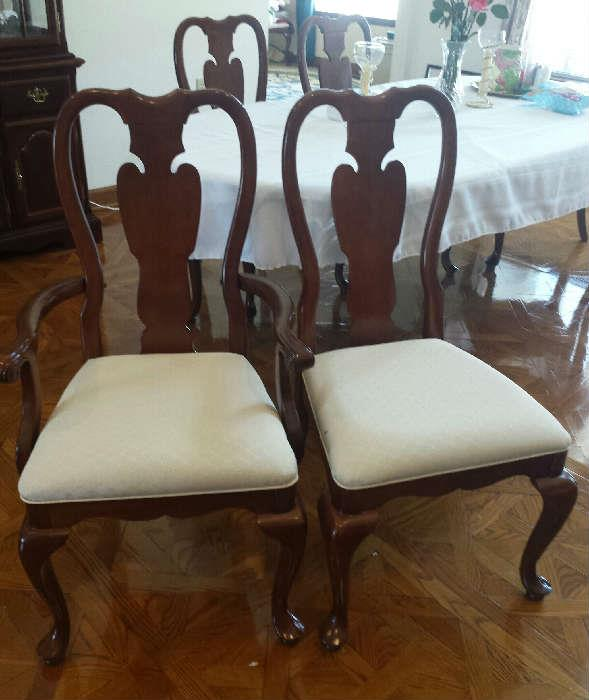 Queen Anne cherry chairs