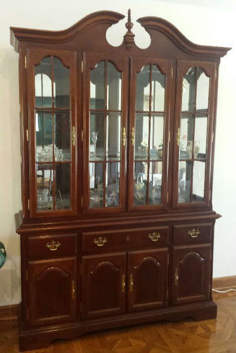 Cherry china cabinet by Universal