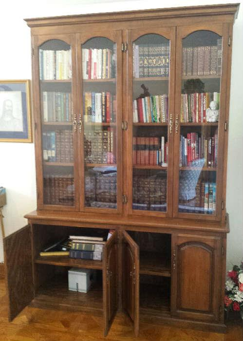 bookcase with lots of books
