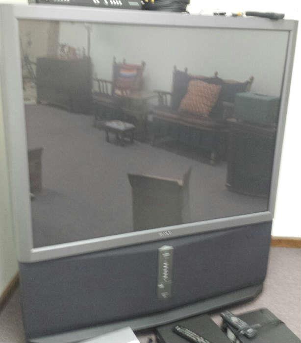 floor big screen television