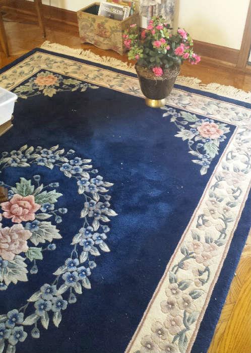 Shaw blue rug
