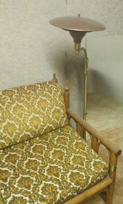 vintage rattan furniture/lamp