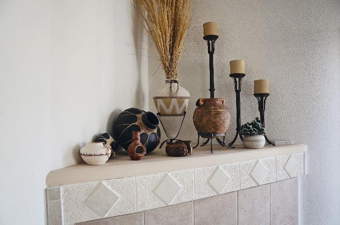 Pottery, Candle Pillars, Southwest Decor