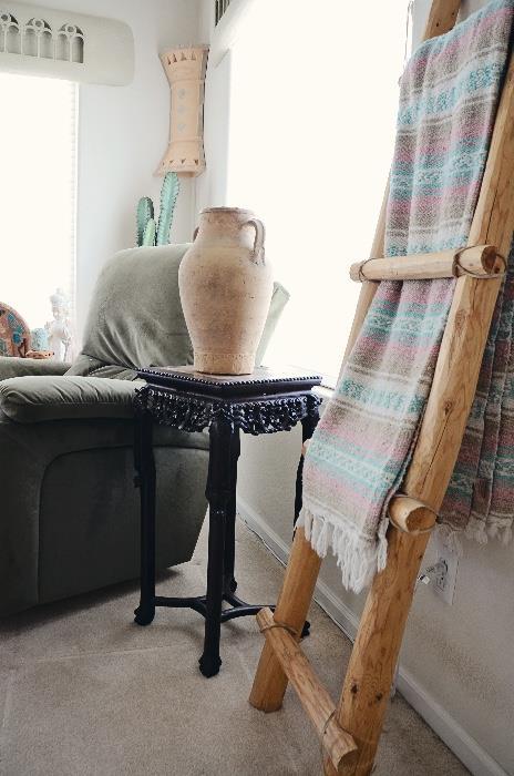 Antique Lamp Table, Southwest Decor