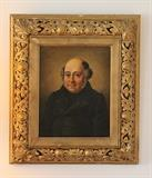 Antique original oil portrait in magnificent frame