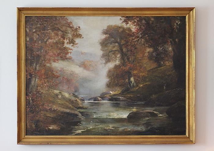 Large landscape oil painting, Douglas Arthur Teed