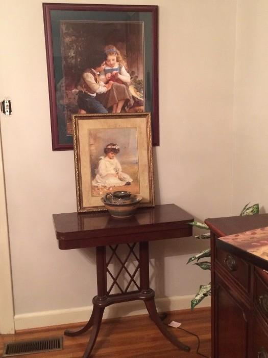 duncan phyfe fold over game table