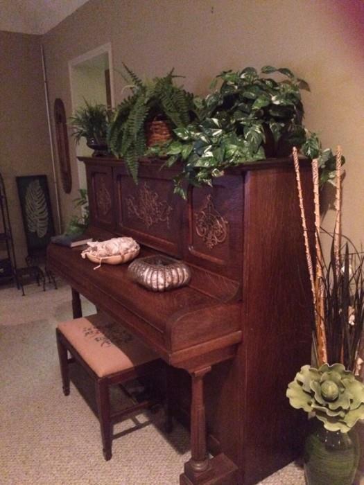 Kimball oak piano