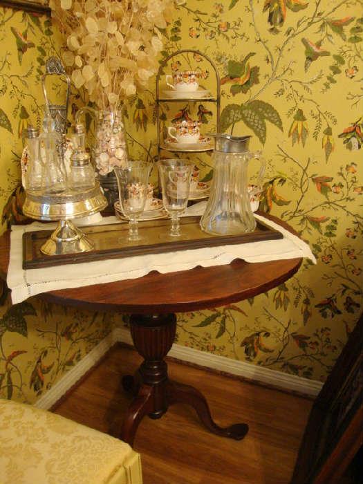 Victorian Condiment Set, Serving Table