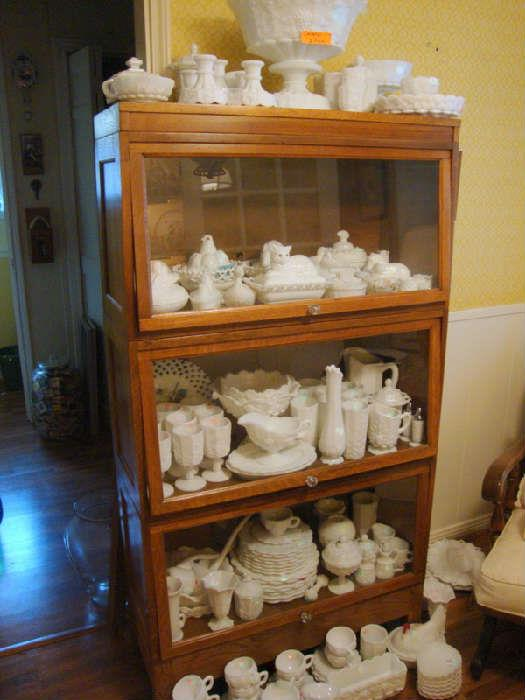 Large Collection of Westmorland Grape and Panel Milk Glass