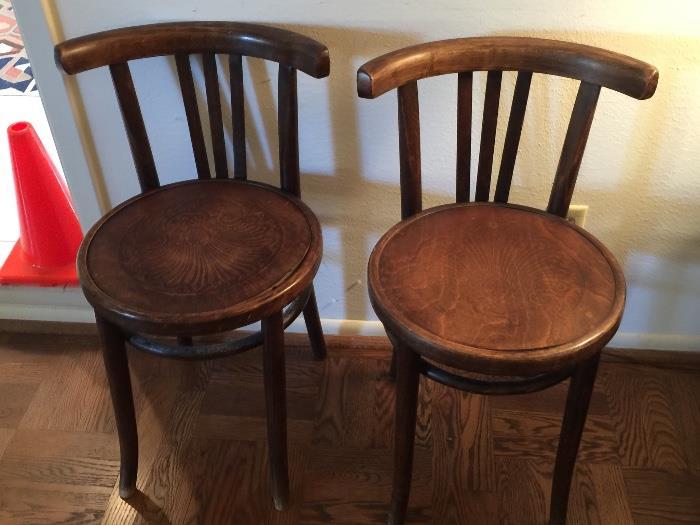 Polish Bentwood Chairs (Pair)