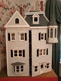 """UNBELIEVABLE Victorian doll house! This took the (recently deceased) owner $10K and 10 years to build - seriously, she kept every receipt.                                                                           Somer of the items include: silver, by Pete Aquisto, Duncan Phyfe dining table by Roger Gutheil, Wildwood Studio, Steak family, Bennetts, Summers, Krupic, Paige Thornton Chippendale Chair, to name a few.                She personally needlepointed all of the """"Persian"""" rugs throughout the house.  The house is completely wired with crystal chandeliers, crackling fireplace, etc."""