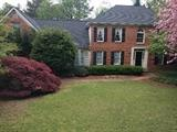 Beautiful home in Atlanta Country Club, in its springtime party dress.