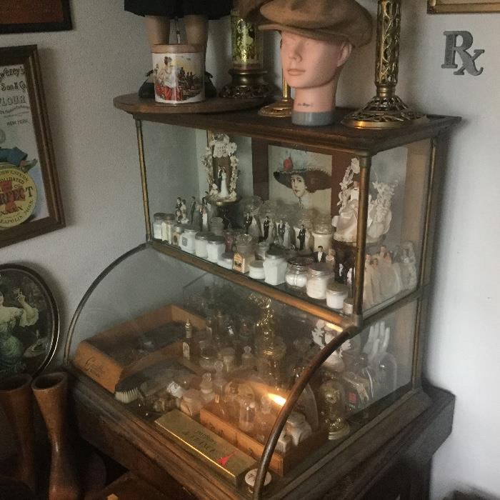 antique counter top display case