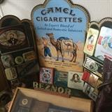 there are hundreds of vintage tins - haven't counted them yet (may well be a thousand!)