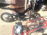 Electric Ultramotor A2B electric bike and Honda powered pressure washer