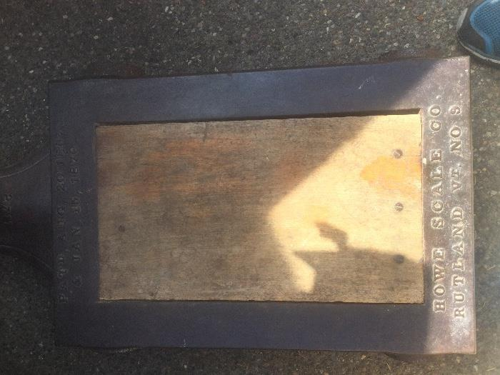 Antique Howe platform scale