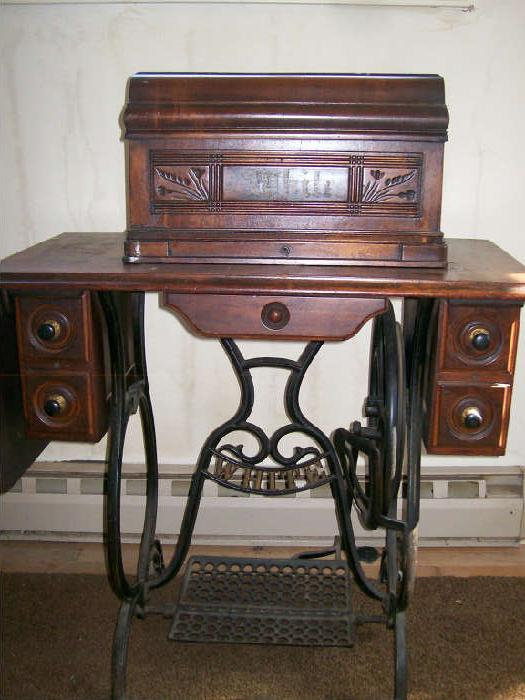 One of about 50 Antique sewing machines.