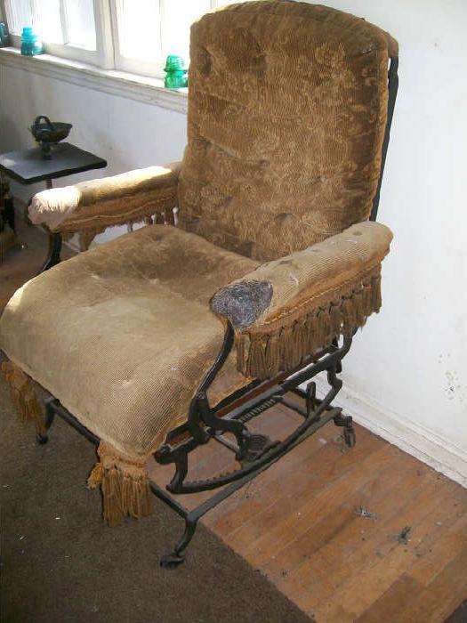 Unusual model iron base chair