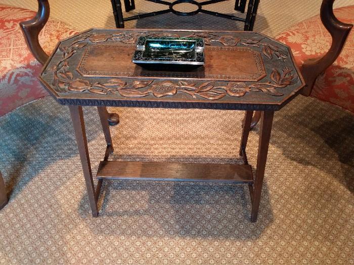 Antique English Oak side table