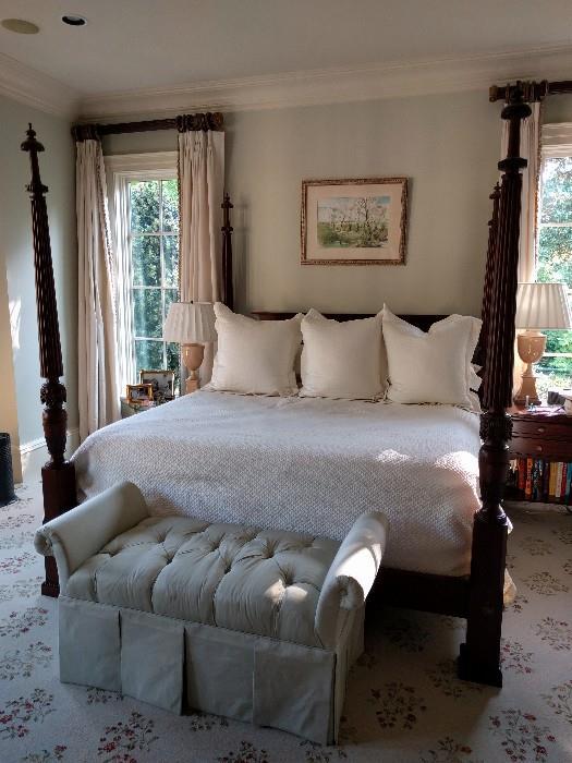 Baker king size mahogany poster bed