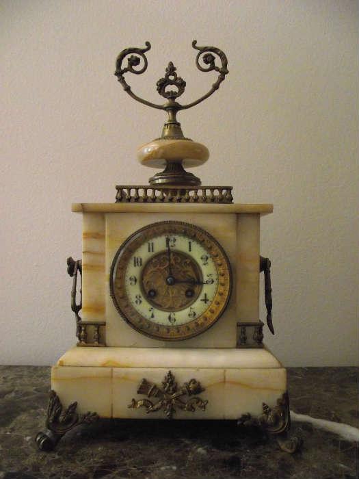 S Marti et Cie Marble Clock