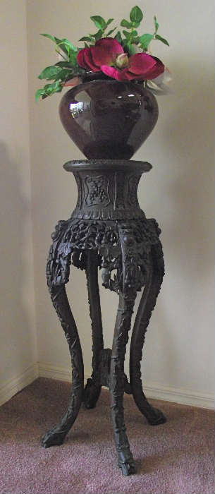 Gorgeous Carved Wood Pedestal