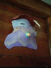 Hopi Pottery Mask - Purchased over 30 years ago in the Southwest. Native American Spirit Mask. Hopi Spirit Mask.