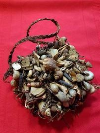 Oceanic Collectible...Papua New Guinea Ceremonial Bag - Old Bilum bag. Yangoou area.