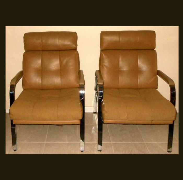 Excellent Mid Century Modern Milo Baughman Chairs
