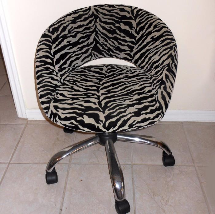 1 of 2 Matching Mid Century Modern Swivel Chairs