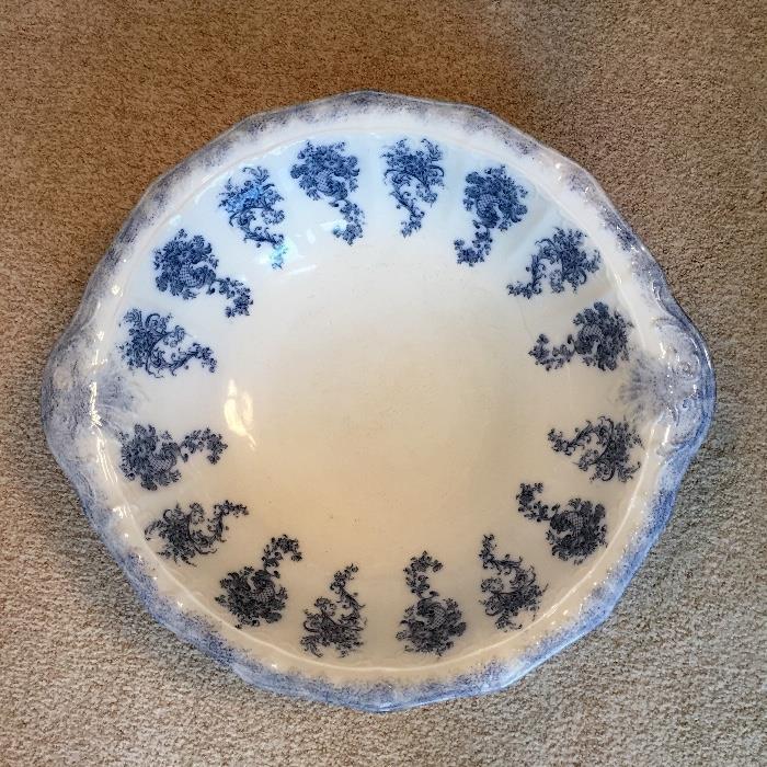 Flow Blue Wash Bowl, W.H. Crindley & Co., England