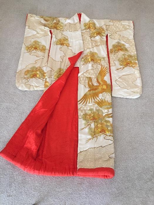Genuine Silk Japanese Wedding Kimono