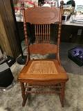 Beautiful Cane Seated Lady's Rocker
