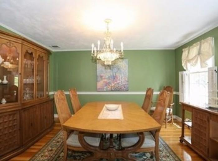Dining room table, sideboard and china cabinet