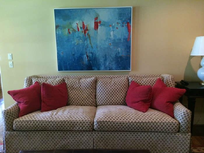 """custom down sofa by Hickory, 99"""" long in mint condition, 2,000"""
