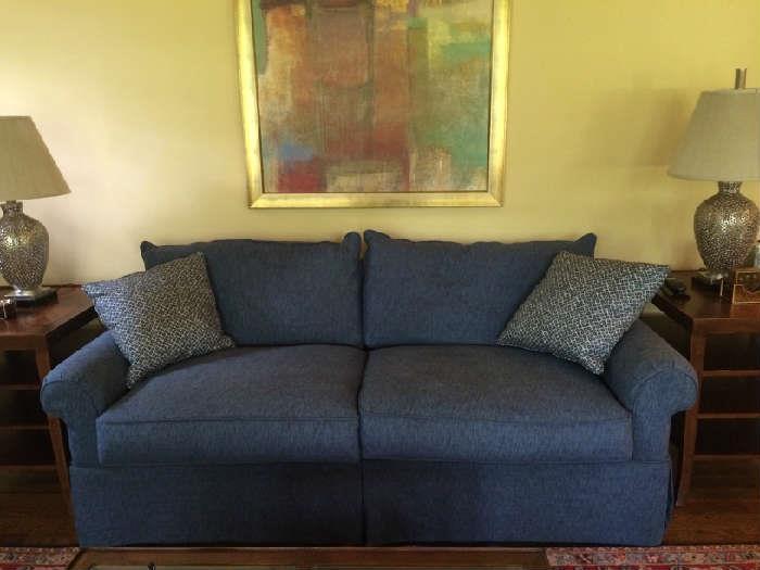 brand new blue sofa, 500.00