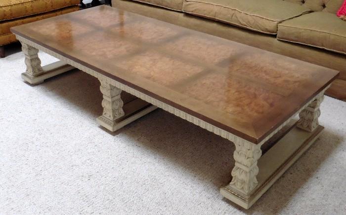 Lane burled top coffee table