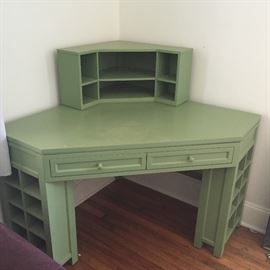Very nice corner wall desk set