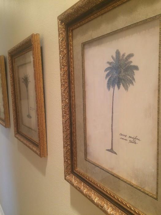 Framed palm tree art