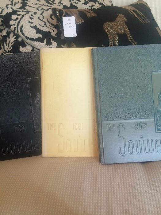 1960, 1961, 1962 Southwest Texas Street Teachers College yearbooks